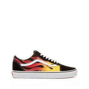 נעלי סניקרס ואנס לגברים Vans Old skool - צבעוני כהה