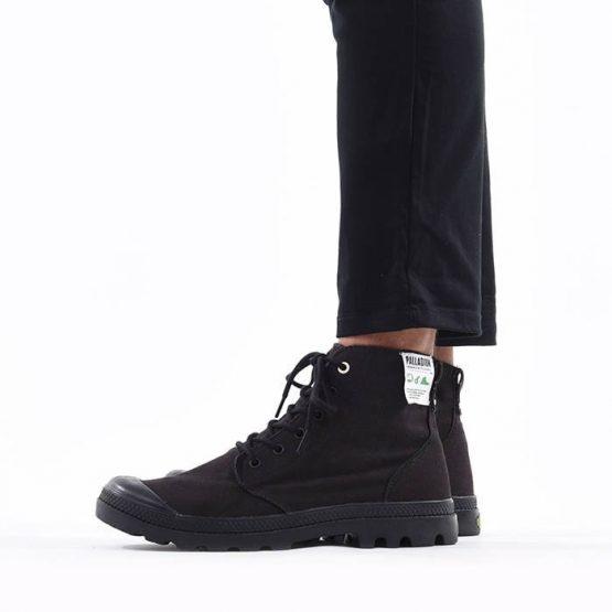 נעליים פלדיום לגברים Palladium Pampa Hi Organic Earth Collection - שחור