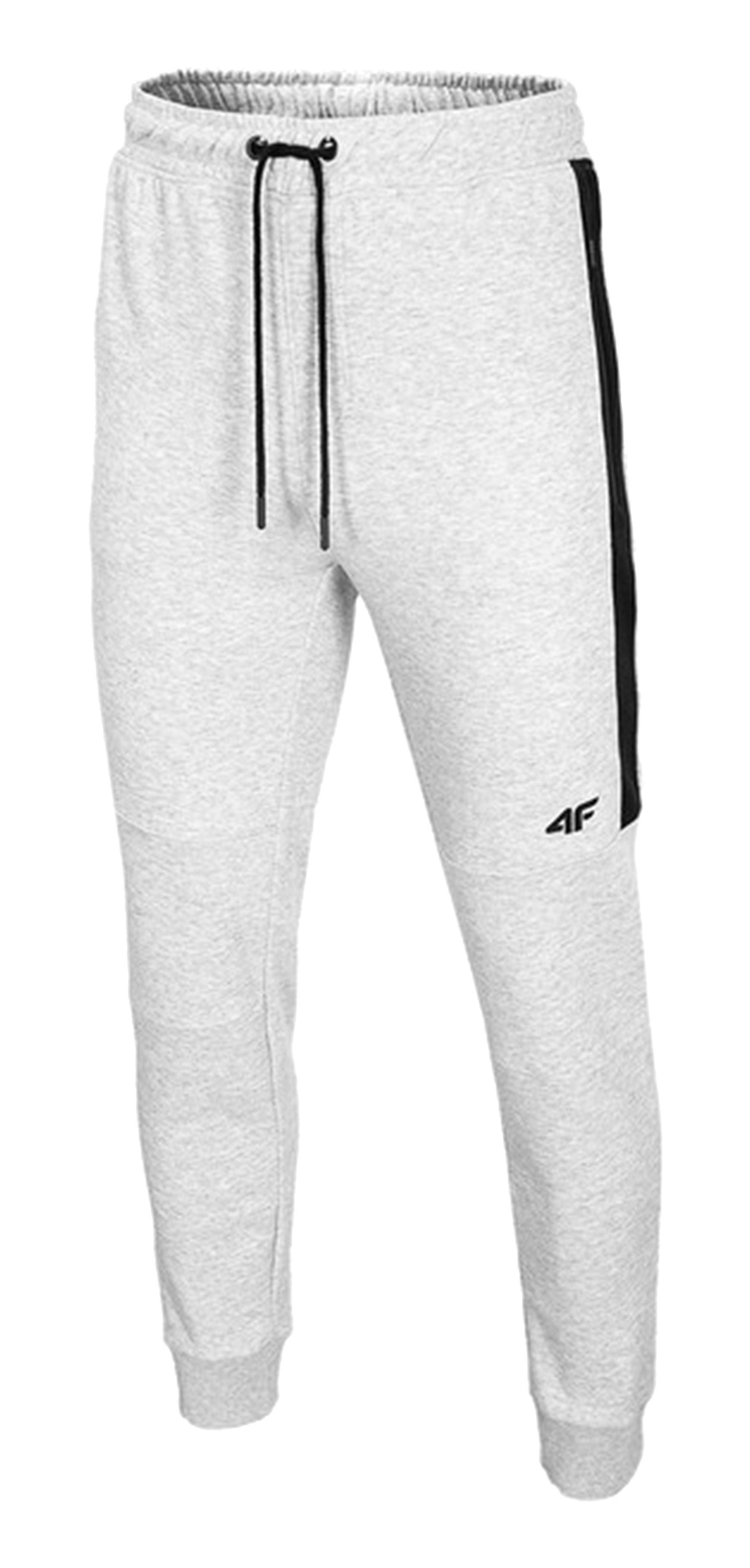 מכנסיים ארוכים פור אף לגברים 4F SPODNIE - אפור בהיר