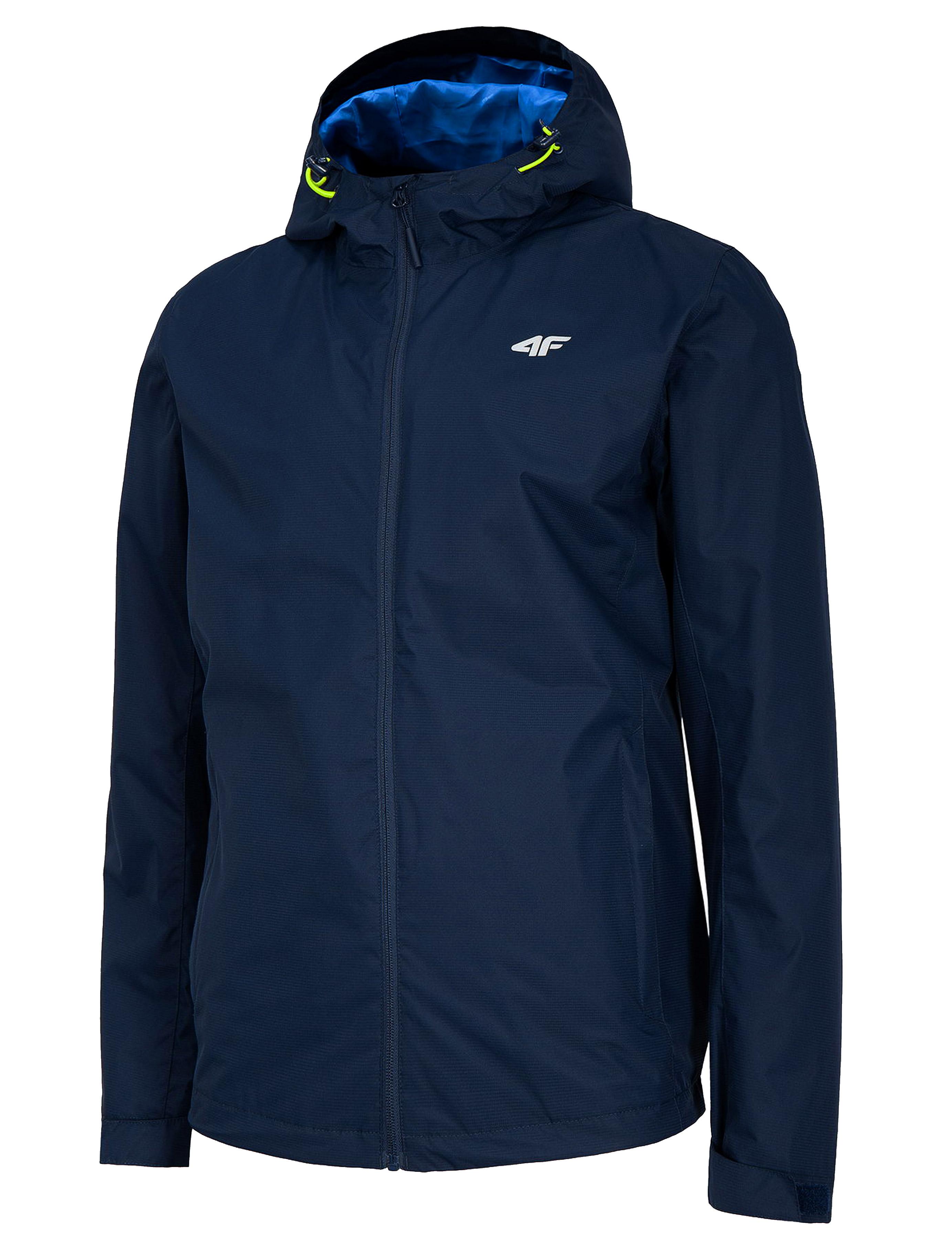 ג'קט ומעיל פור אף לגברים 4F rain jacket - כחול כהה