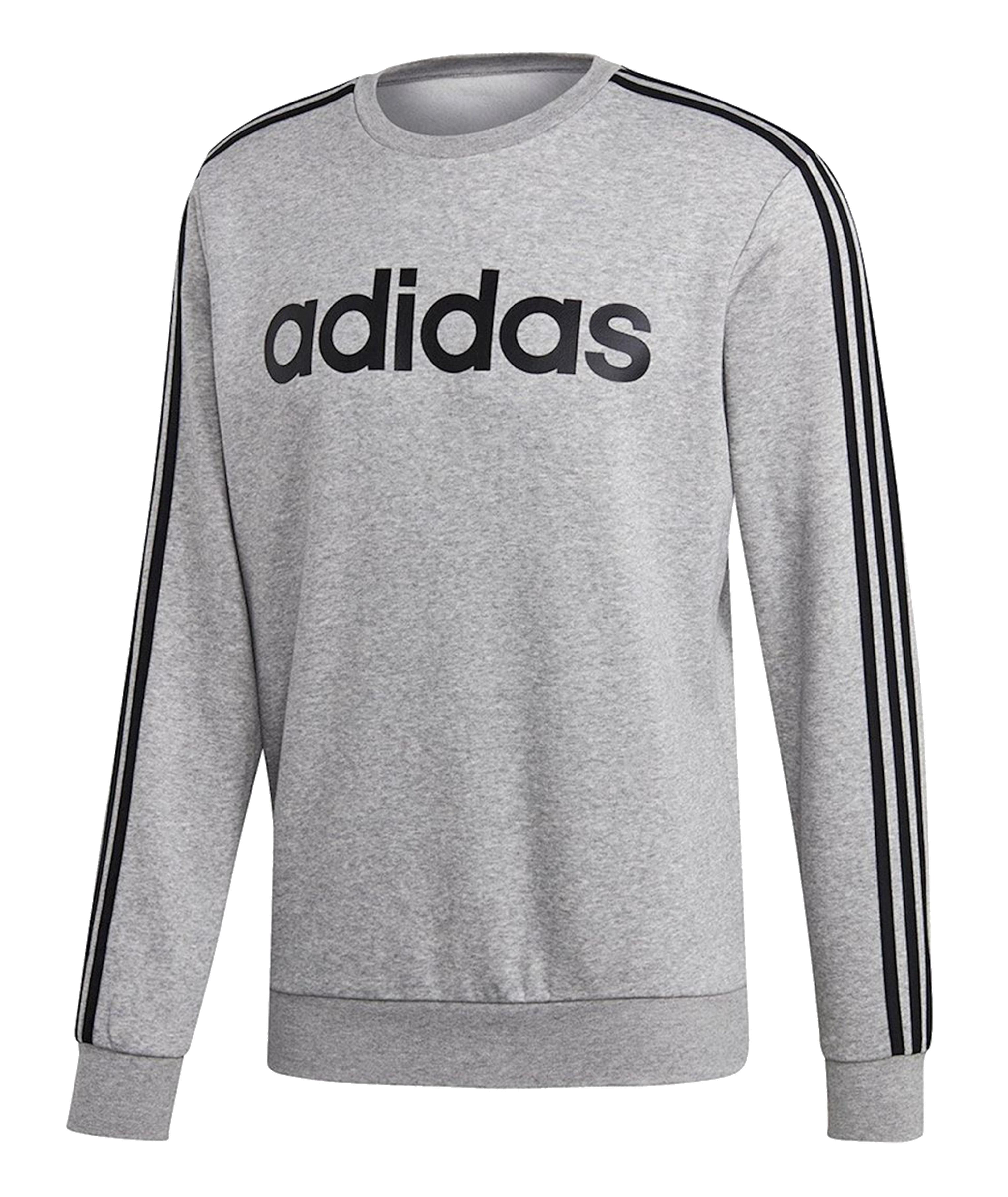ביגוד אדידס לגברים Adidas E 3S CREW - אפור