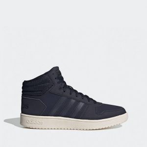 נעלי סניקרס אדידס לגברים Adidas Hoops 2.0 Mid - כחול כהה