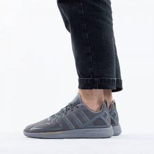 נעלי סניקרס אדידס לגברים Adidas Originals BlockbusterZx 2K Flux - אפור בהיר