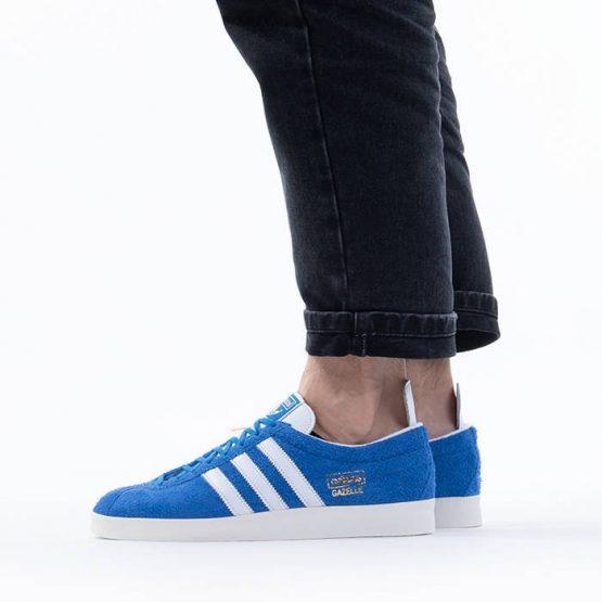 נעלי סניקרס אדידס לגברים Adidas Originals Gazelle Vintage - כחול