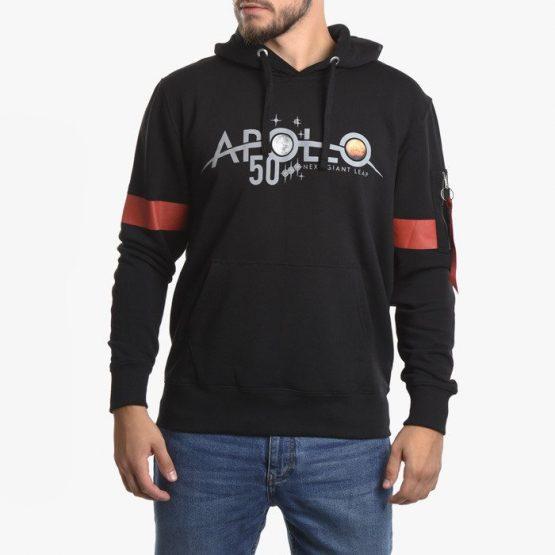 סווטשירט אלפא אינדסטריז לגברים Alpha Industries Apollo 50 Reflective - שחור
