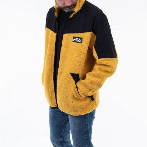ביגוד פילה לגברים Fila Manolo sherpa - צהוב