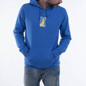 סווטשירט HUF לגברים HUF Messed Up Bunny - כחול
