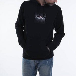 ביגוד HUF לגברים HUF Voyeur Box Logo P/O - שחור