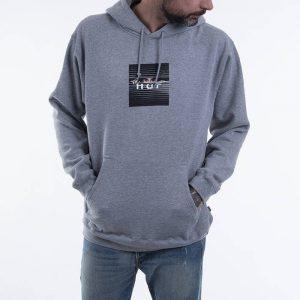 ביגוד HUF לגברים HUF Voyeur Box Logo P/O - אפור