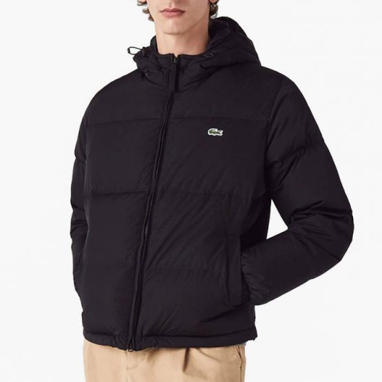 ג'קט ומעיל לקוסט לגברים LACOSTE Puffer Coat - שחור
