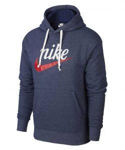 ביגוד נייק לגברים Nike NSW HERITAGE PO GX - כחול כהה