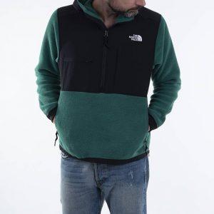 סווטשירט דה נורת פיס לגברים The North Face Denali 2 - שחור/ירוק