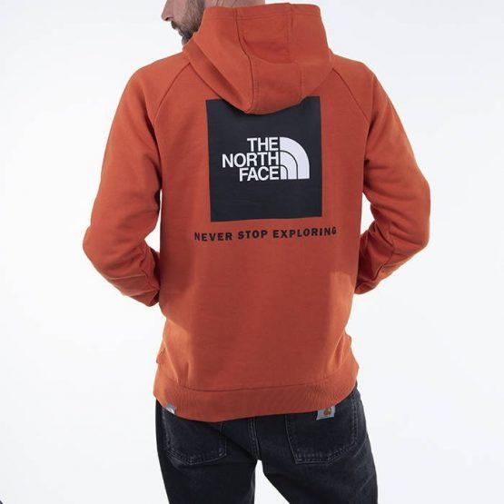 ביגוד דה נורת פיס לגברים The North Face Raglan Redbox - כתום
