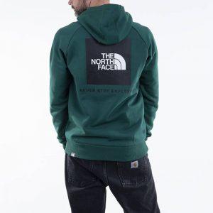 ביגוד דה נורת פיס לגברים The North Face Raglan Redbox - ירוק