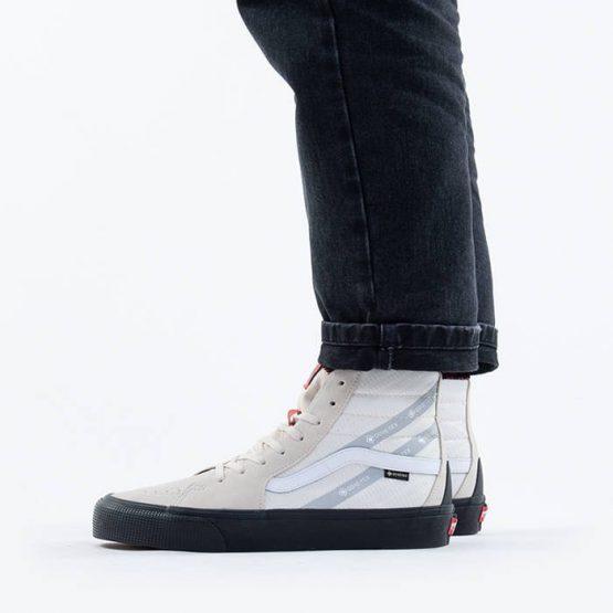 נעלי סניקרס ואנס לגברים Vans Sk8-Hi GTX Gore-Tex - לבן