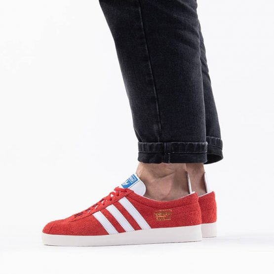 נעלי סניקרס אדידס לגברים Adidas Originals Gazelle Vintage - אדום
