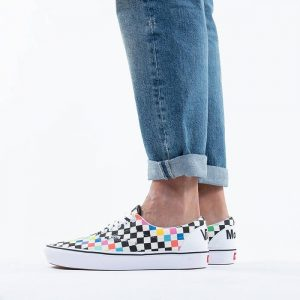 נעלי סניקרס ואנס לגברים Vans x MoMA ComfyCush Era - לבן