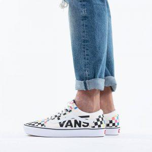 נעליים ואנס לגברים Vans x MoMA ComfyCush Old Skool - לבן