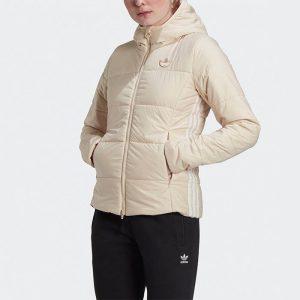 ביגוד אדידס לנשים Adidas Originals Slim Jacket - לבן