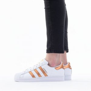 נעלי סניקרס אדידס לנשים Adidas Originals Superstar 2.0 - לבן/כתום