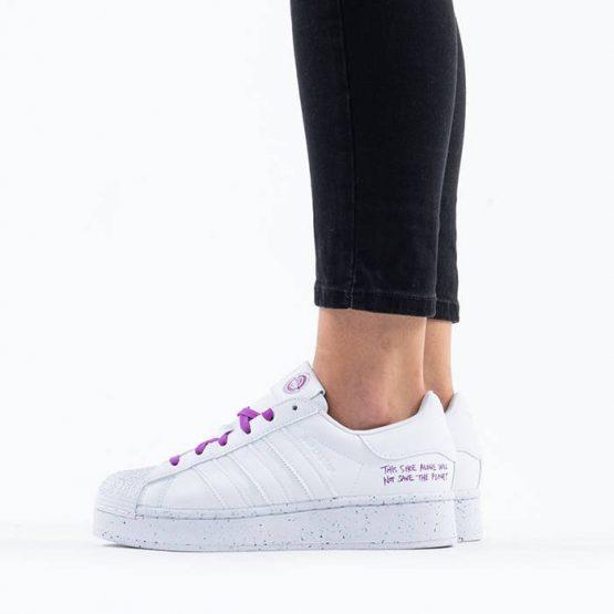 נעליים אדידס לנשים Adidas Originals Superstar Bold Clean Classics - לבן