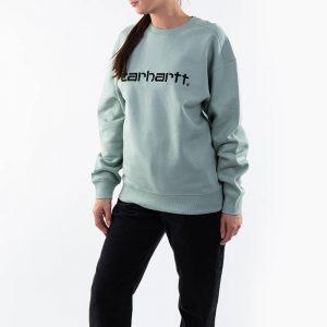 ביגוד קארהארט לנשים Carhartt WIP Sweat - ירוק