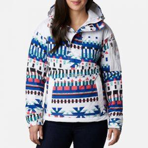 ג'קט ומעיל קולומביה לנשים Columbia Challenger Pullover - לבן