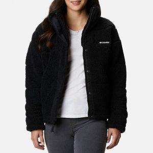 ג'קט ומעיל קולומביה לנשים Columbia Lodhe Baffled Sherpa Fleece - שחור