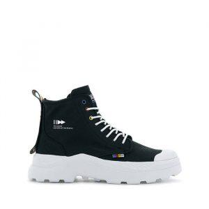 נעליים פלדיום לנשים Palladium Pallakix Dare Exchange - שחור/לבן