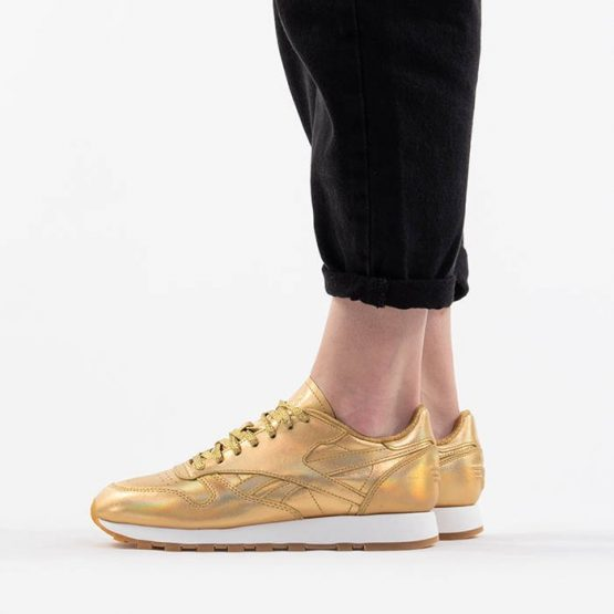 נעליים ריבוק לנשים Reebok Club Classic Leather Mu x Wonder - זהב