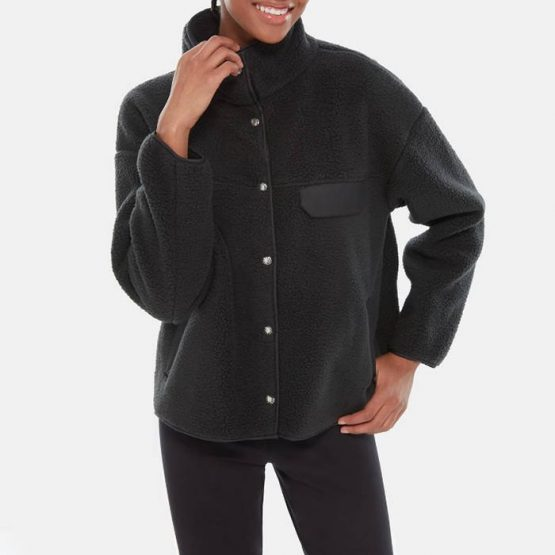סווטשירט דה נורת פיס לנשים The North Face Cragmont Fleece Jacket - שחור