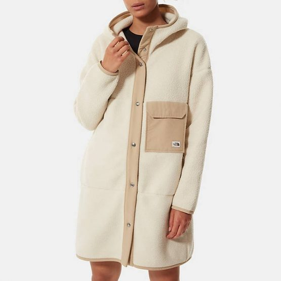ג'קט ומעיל דה נורת פיס לנשים The North Face Fleece Mashup Coat - לבן