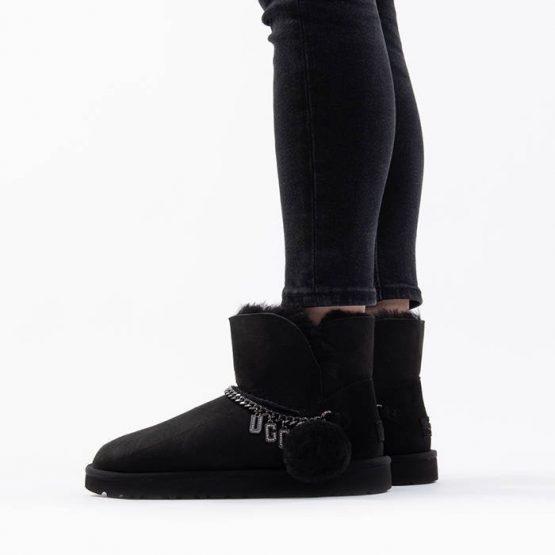 נעליים האג לנשים UGG Classic Charm Mini - שחור