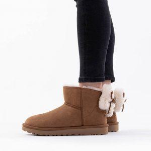 נעליים האג לנשים UGG Classic Mini Bow - חום