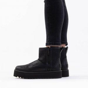 נעליים האג לנשים UGG Classic Rebel Biker Mini - שחור