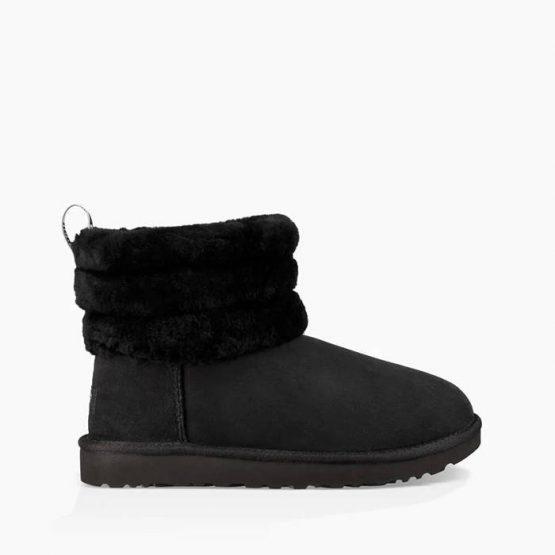 נעליים האג לנשים UGG Fluff Mini Quilted - שחור