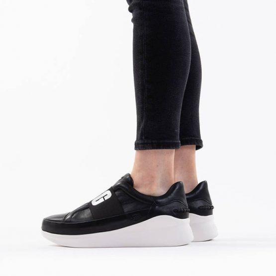 נעליים האג לנשים UGG Libu Logo - שחור/לבן