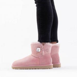 נעליים האג לנשים UGG Mini Bailey Button Bling - ורוד