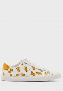 נעלי סניקרס אסיקס טייגר לגברים Asics Tiger Lawnship 3 - לבן הדפס