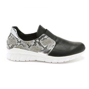 נעלי סניקרס טבע נאות לנשים Teva naot Interpid - שחור/לבן