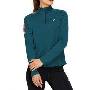 חולצת אימון אסיקס לנשים Asics ICON ZIP - כחול