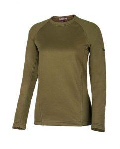 חולצת אימון אווטדור לנשים Outdoor X WARM - ירוק זית