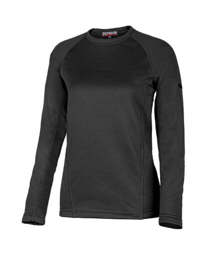 חולצת אימון אווטדור לנשים Outdoor X WARM - שחור
