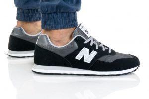 נעלי סניקרס ניו באלאנס לגברים New Balance ML393 - שחור/אפור