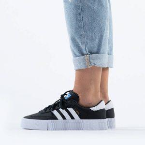 נעלי סניקרס אדידס לנשים Adidas Originals Sambarose - שחור פחם