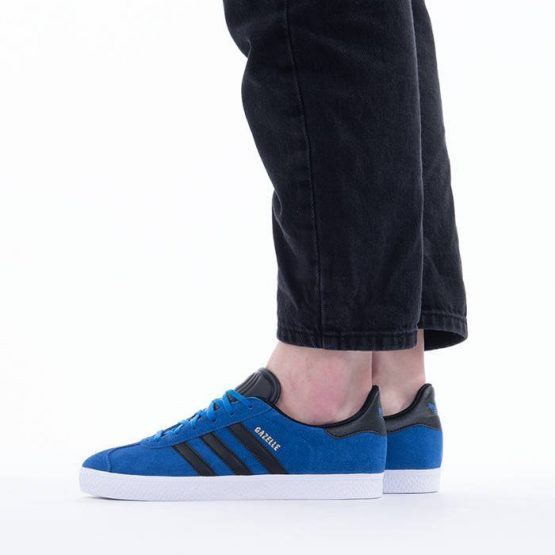 נעלי סניקרס אדידס לנשים Adidas Originals GAZELLE - כחול/שחור