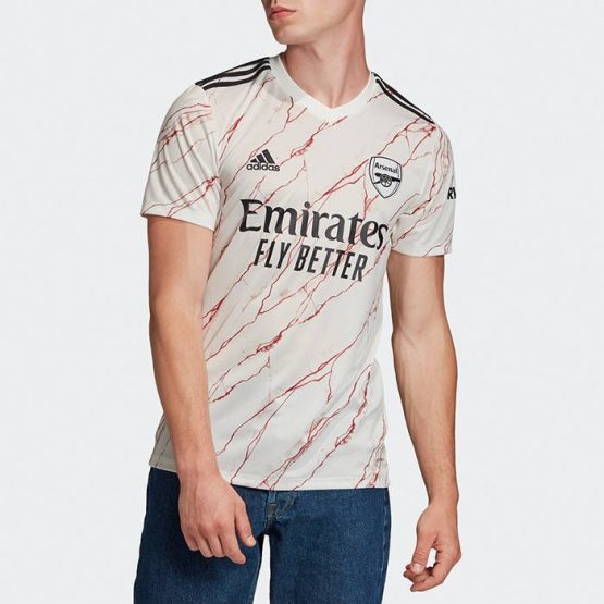 בגד אדידס לגברים Adidas ARSENAL 20/21 AWAY - לבן