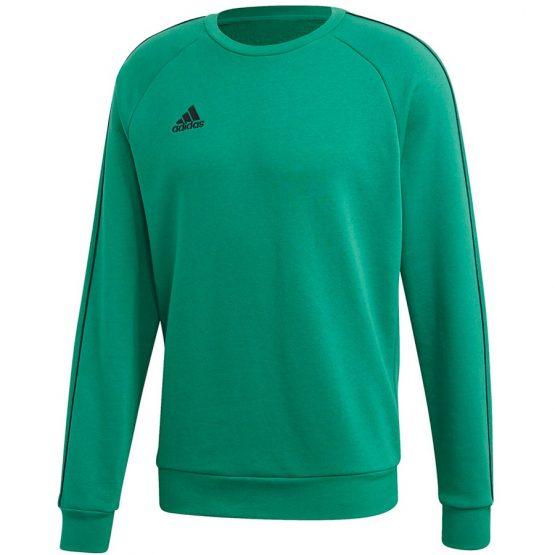 סווטשירט אדידס לגברים Adidas CORE 18 - ירוק