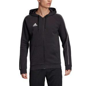 סווטשירט אדידס לגברים Adidas Core 18 FZ - שחור