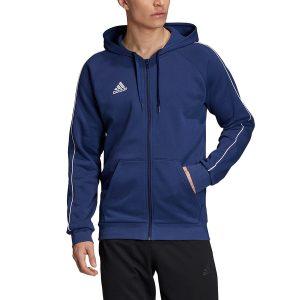 סווטשירט אדידס לגברים Adidas Core 18 FZ - כחול כהה